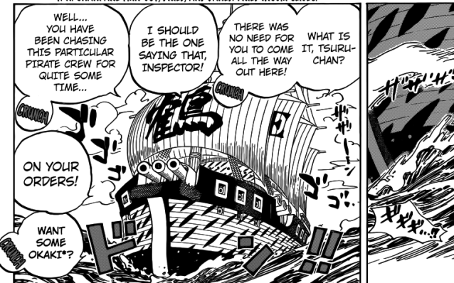 One Piece chapter 793 - Tsuru and Sengoku