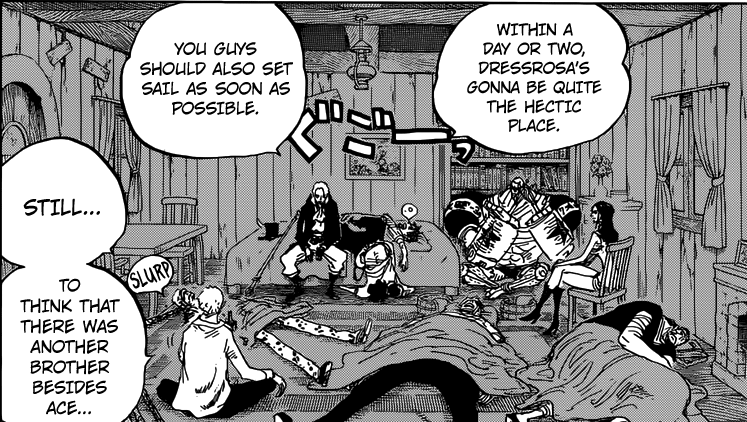 One Piece chapter 794 - Sabo meets part of Luffy's crew