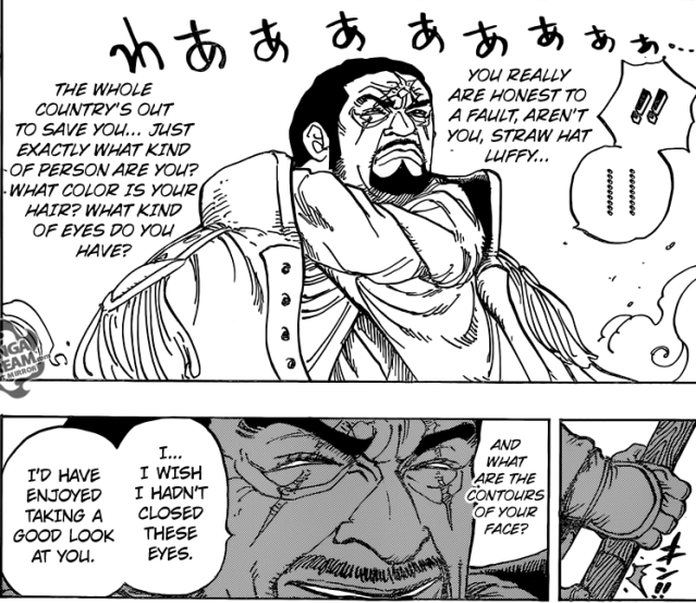 One Piece chapter 799 - Isshou's interest in Luffy