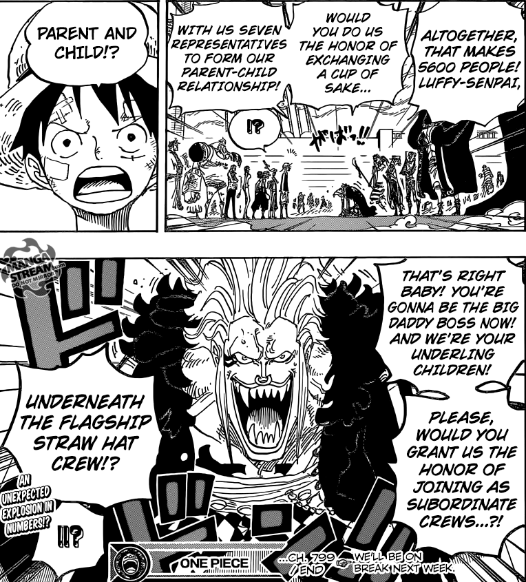 One Piece chapter 799 - The Straw Hat Pirate Alliance