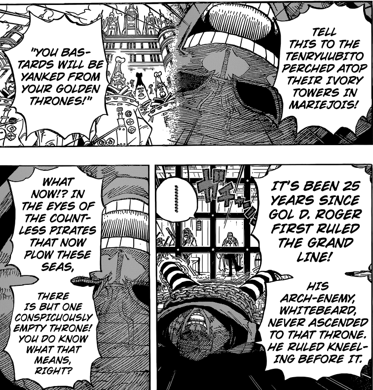 One Piece chapter 801 - Doflamingo's speech
