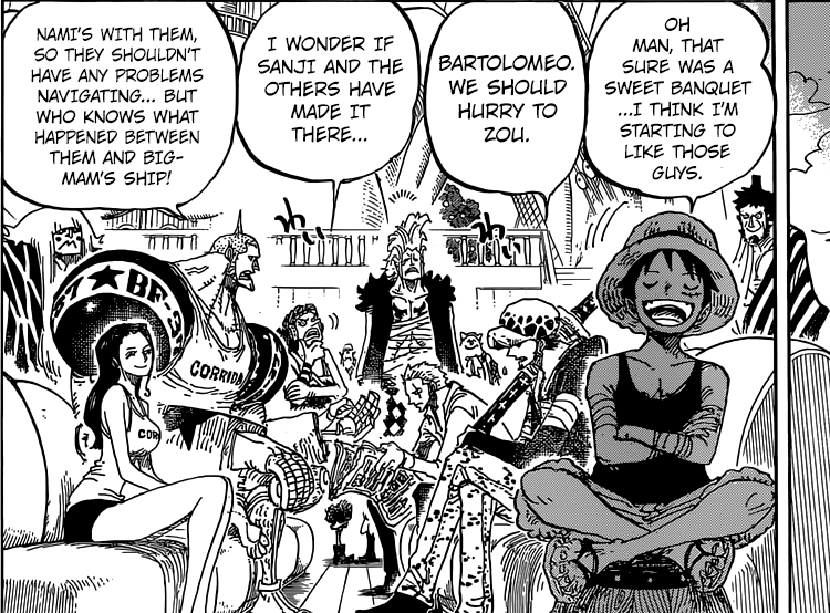 One Piece chapter 801 - Aboard the Going Luffy