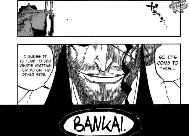 Bleach chapter 647 - Kyouraku unleashes his Bankai