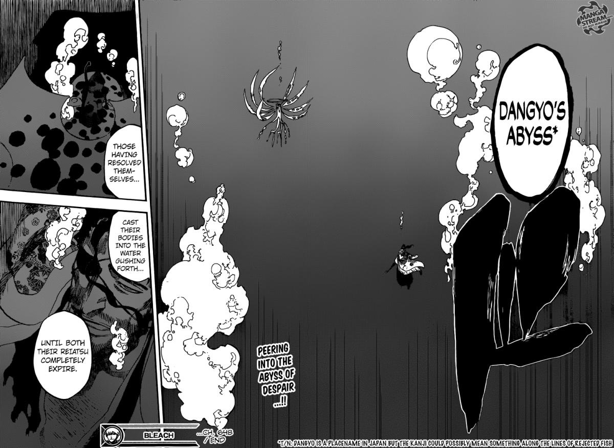 Bleach chapter 648 - Third Dan: Dangyo's Abyss