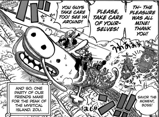 One Piece chapter 803 - the climbing dragon