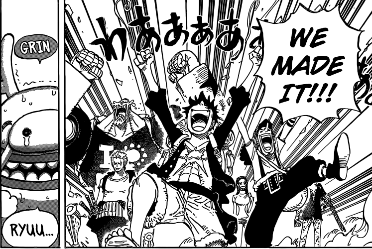 One Piece chapter 804 - Reaching the top of Zou