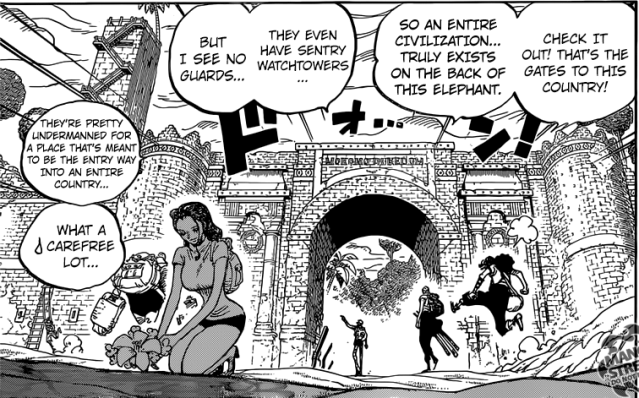 One Piece chapter 804 - Robin leaving flowers at Ryuunosuke's