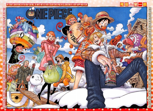 One Piece Chapter 811 - double page colour spread