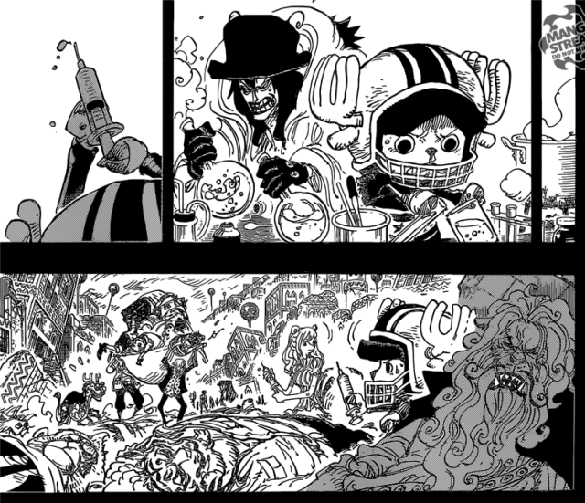 One Piece Chapter 811- Caesar helping Chopper