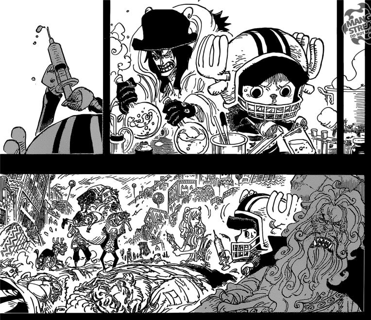 One Piece Chapter 811- Caesar helping Chopper