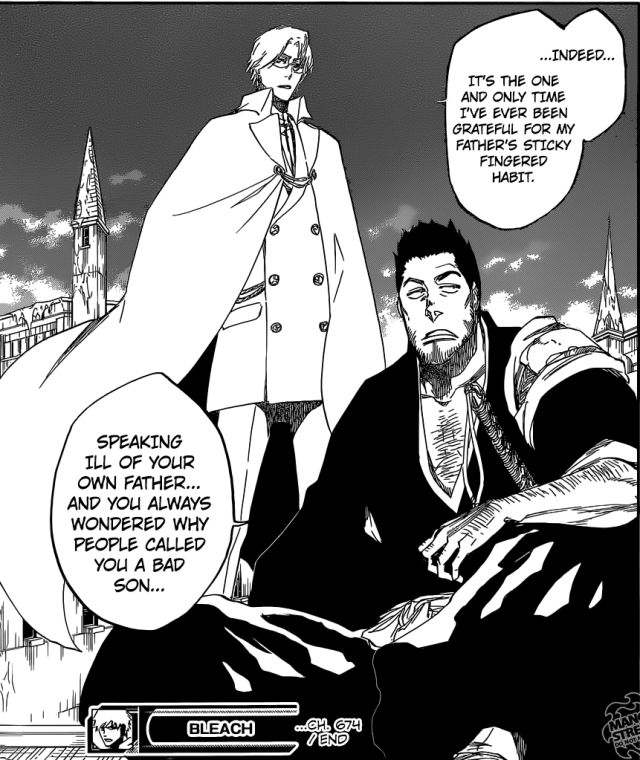 Bleach chapter 674 - Isshin and Ryuuken