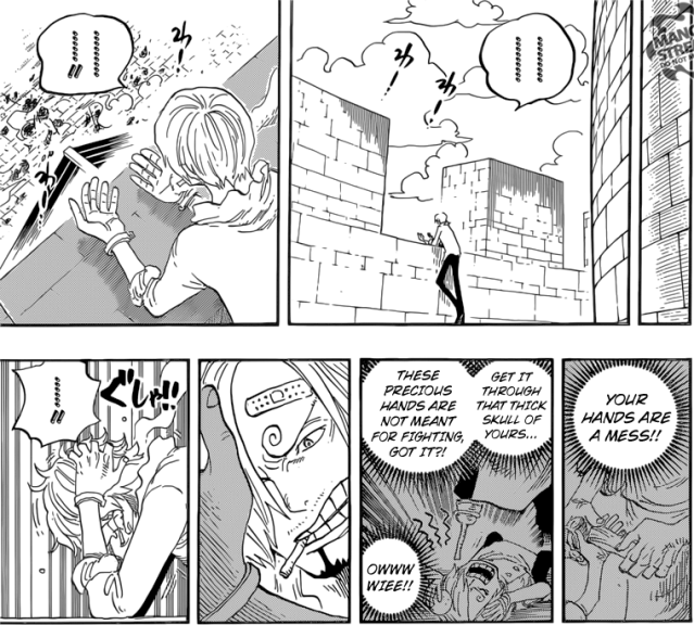 One Piece chapter 834 - Sanji trapped