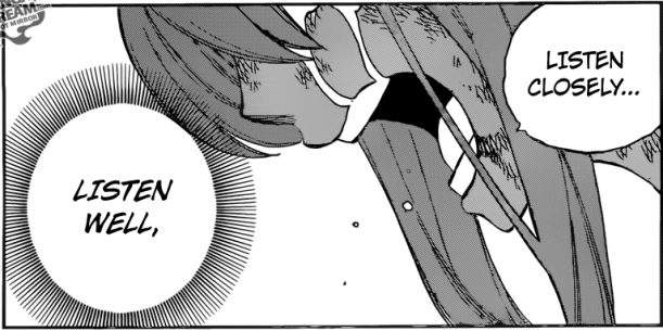 Fairy Tail chapter 507 - the message for Natsu and Gray