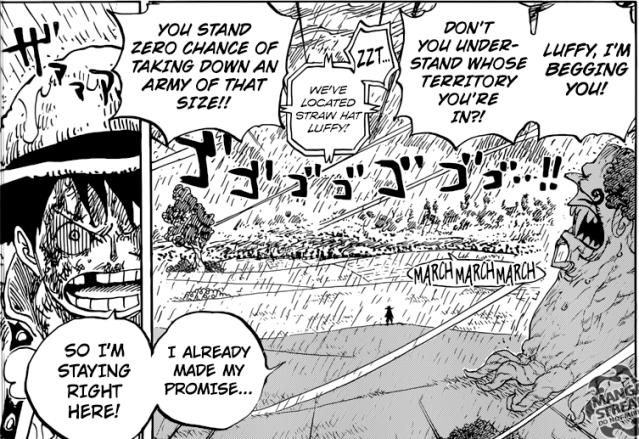 One Piece chapter 845 - Luffy's resolve