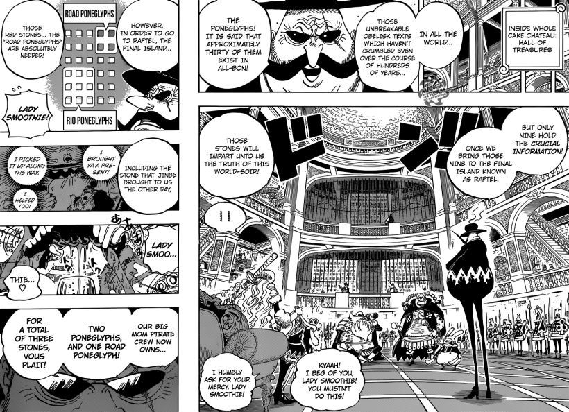 One Piece Chapter 846 - The Poneglyphs