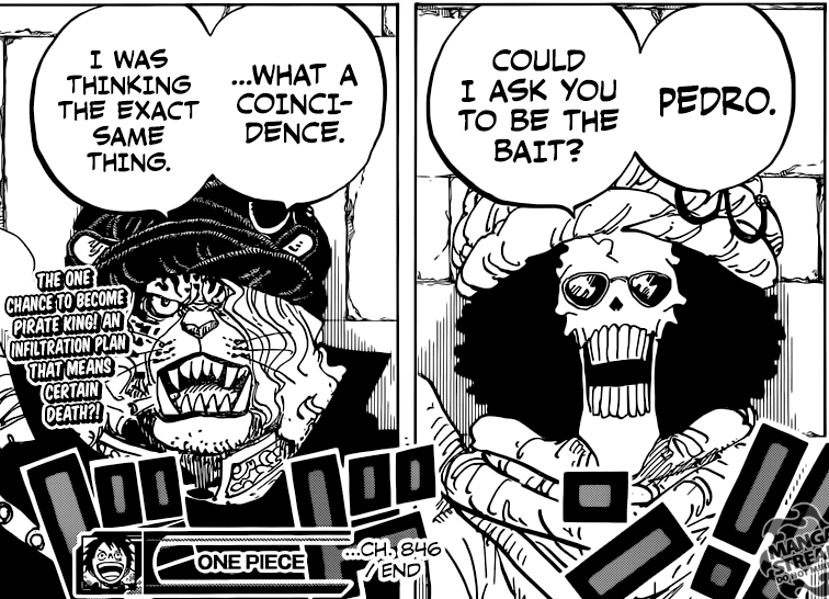One Piece Chapter 846 - Brook and Pedro