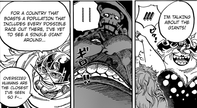 One Piece Chapter 847 - Big Mom's reaction to the mention of Giants