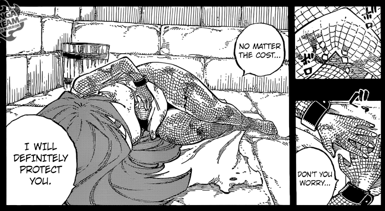 Fairy Tail chapter 515 - Irene protecting Erza