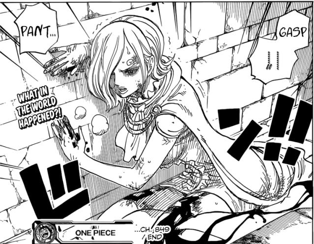 One Piece chapter 849 - Reiju injured