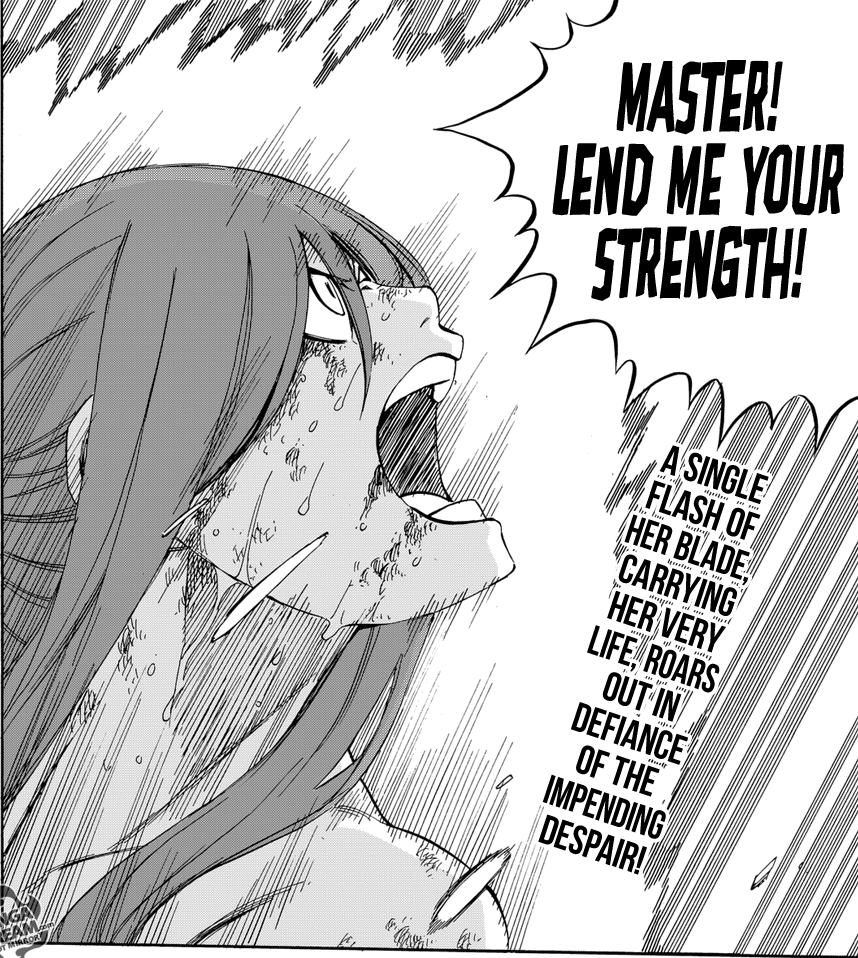 Fairy Tail chapter 518 - Erza bears her spirit