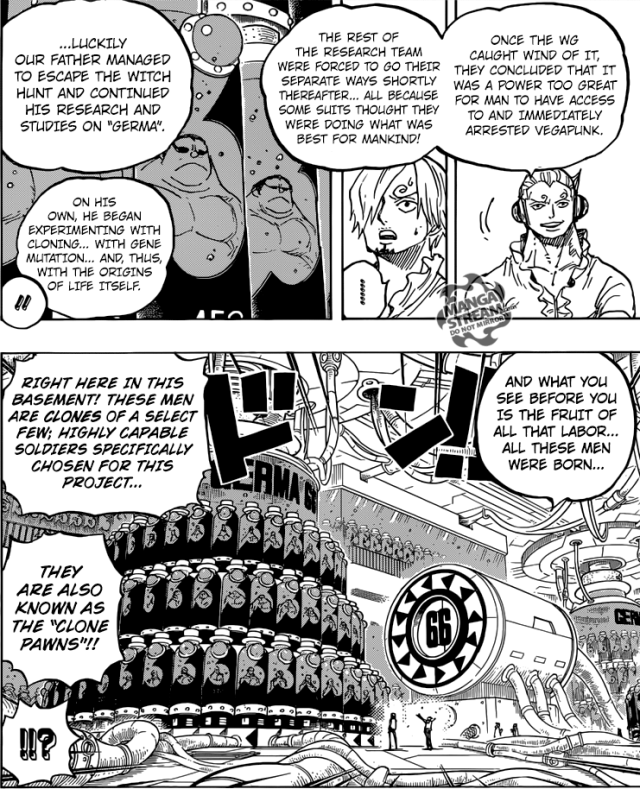 One Piece Chapter 840 - The Germa Cloning