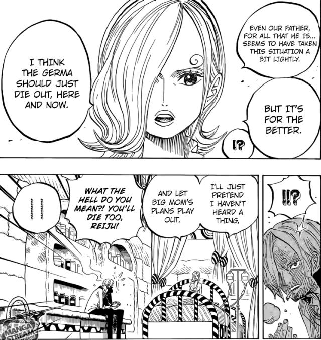 One Piece chapter 852 - Reiju's intentions