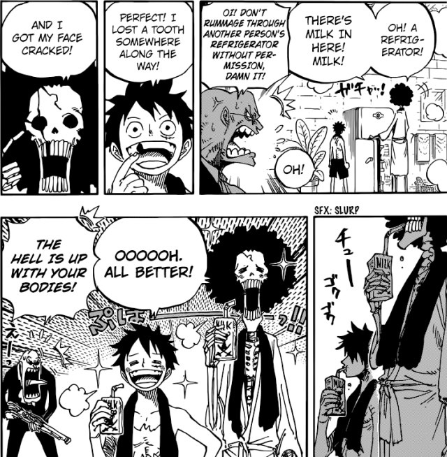 One Piece chapter 858 - Milk