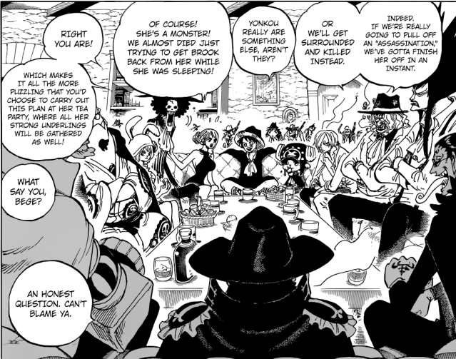 One Piece chapter 859 - Operation assassinate Big Mom begins!