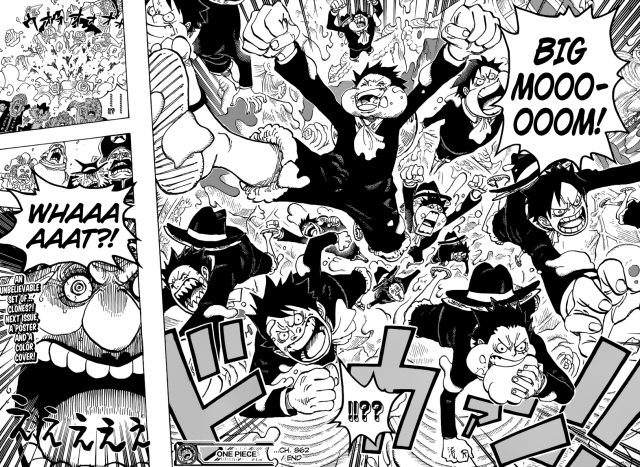One Piece chapter 862 - Luffy clones