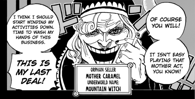 One Piece chapter 867 - Mother Caramel's true identity
