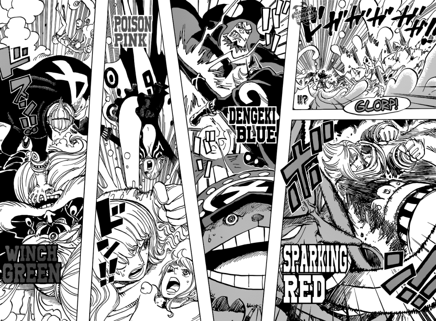 One Piece chapter 869 - Germa 66 VS The Big Mom Pirates