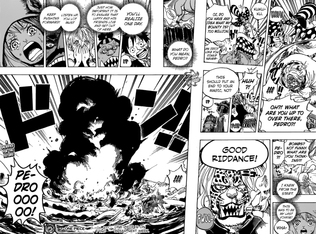 One Piece chapter 877 - Pedro's sacrifice
