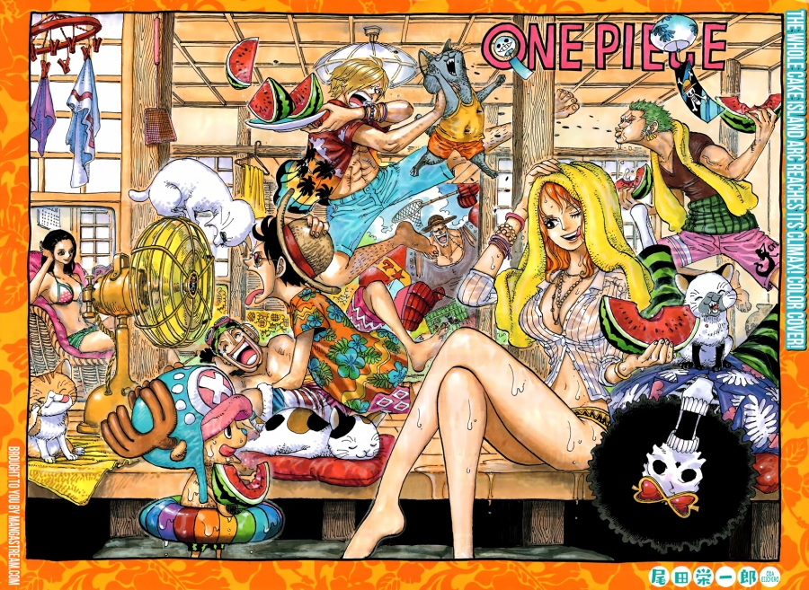 One Piece chapter 878 - double page colour spread