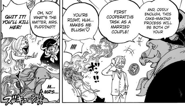 One Piece chapter 880 - Sanji and Pudding