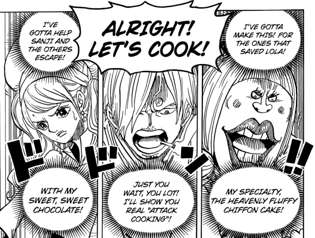 One Piece chapter 880 - Attack Cooking