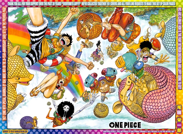 One Piece chapter 886 - colour spread