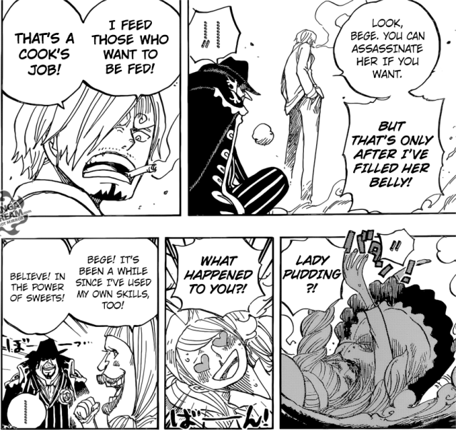 One Piece chapter 889 - Sanji's pride as a cook