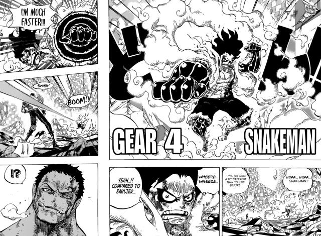 One Piece chapter 895 - Gear Fourth Snake Man