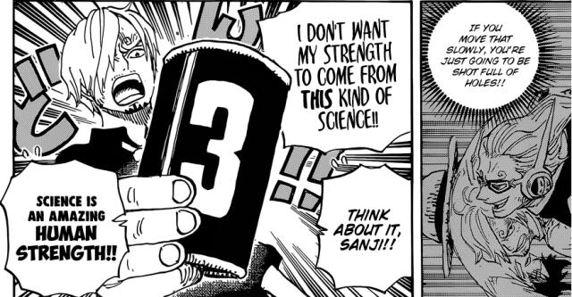 One Piece chapter 903 - Sanji's Germa Raid Suit