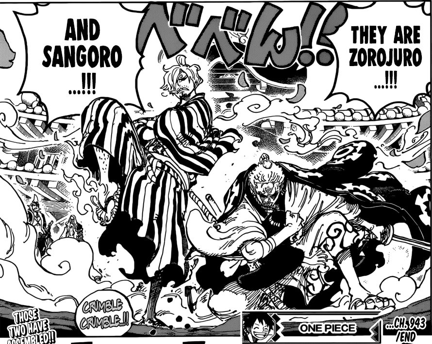 One Piece chapter 943 - Zoro and Sanji defend Toko