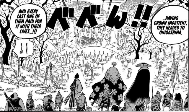 One Piece chapter 950 - The graves of Wano Kuni