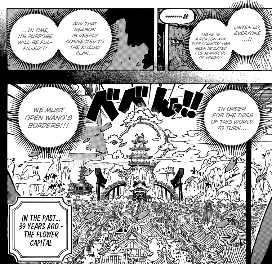 One Piece chapter 959 - The secrets within Wano Kuni