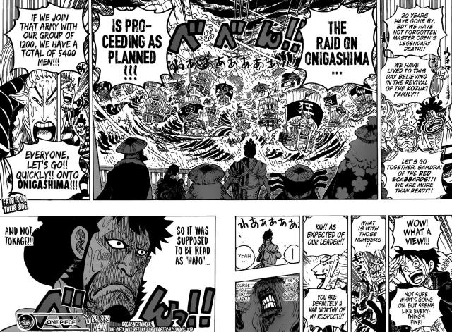 One Piece chapter 975 - The raid on Onigashima continues!