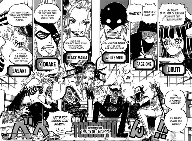One Piece chapter 978 - The Beast Pirates Tobi Roppo