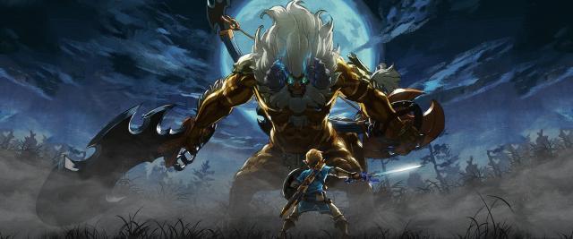 The Legend of Zelda Breath of the Wild - Link VS Lynel Wallpaper