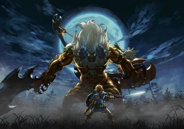 The Legend of Zelda Breath of the Wild - Link VS Lynel