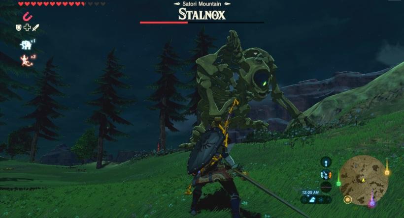 The Legend of Zelda: Breath of the Wild - Stalnox fight
