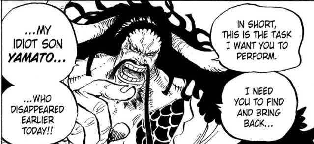One Piece chapter 979 - Kaido request the Tobi Roppo to bring his son to him