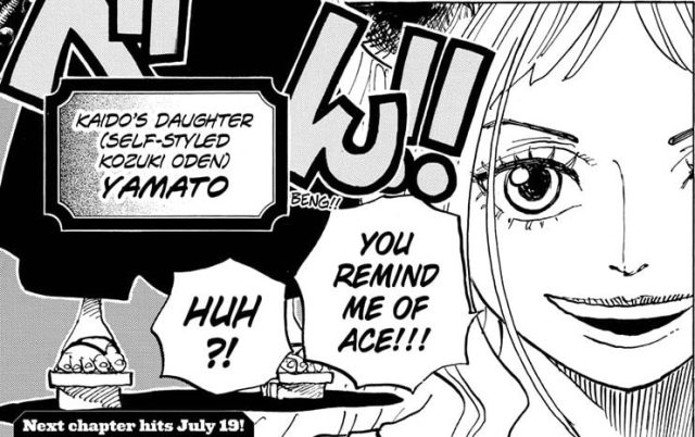 One Piece chapter 984 - Yamato reveals her face