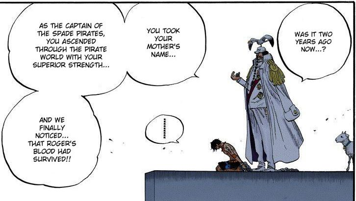One Piece chapter 551 - Sengoku tells Ace they have been keep track of his movements for the past few years